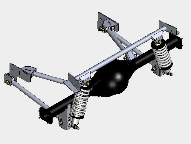 4-Link Ford Coil-Over Rear Suspension Systems